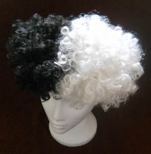 Black and White Afro Wig.